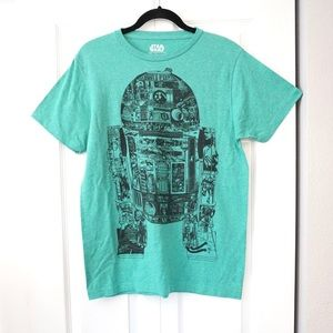 Disney Star Wars R2d2 Droid Graphic Tee Green